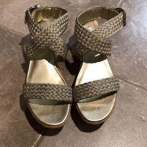 Gold Jessica Simpson Sandals